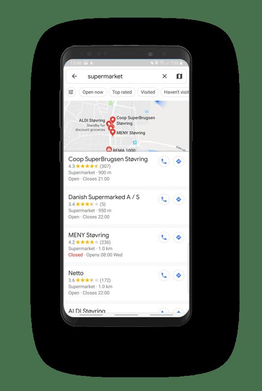 Google Maps Proximity ranking