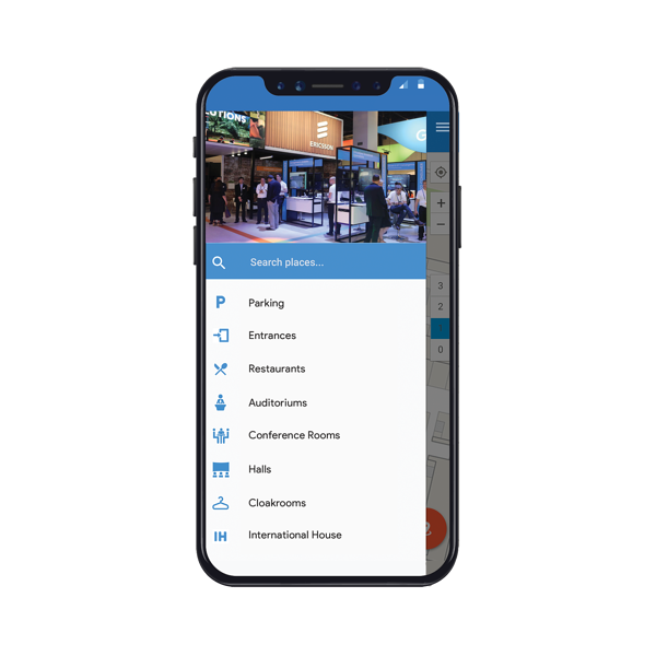 Indoor navigation for convention centers and other meeting venues