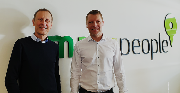 CEO, Michael Gram, and new CFO, Morten Bradsted Nielsen, at MapsPeople