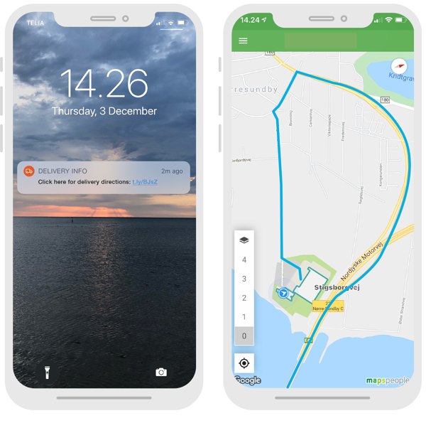 notification+route